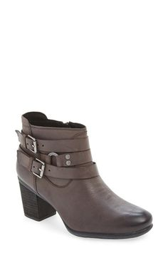 Free shipping and returns on Josef Seibel 'Britney 02' Boot (Women) at Nordstrom.com. With a shortened shaft and belted straps, this almond-toe bootie is a perfect choice for everyday style.