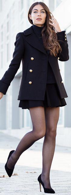 Jacket – HMxBalmain Roll Neck – Mango Skirt – Whistles Shoes – Dune London Bag – Saint Laurent