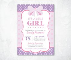 Printable Baby Shower Invitation  Cute Baby by meganraegraphics