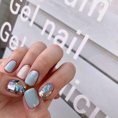 133 glitter gel nail designs for short nails for spring - Matt Nails, Love Nails, Pretty Nails, Glitter Gel Nails, Nail Manicure, Nail Polish, Manicures, Gel Manicure Designs, 3d Nails