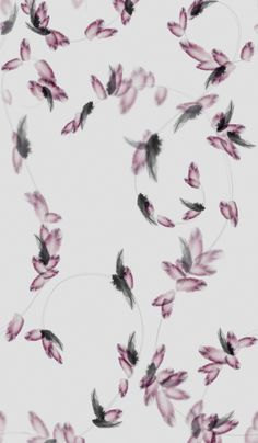 Pretty Little Liars - Hannah's Room  Feather Wallpaper    Want this like RIGHT NOWWW!!!