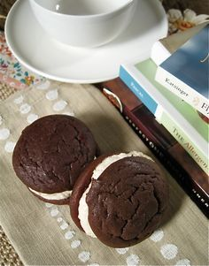 Maple Marshmallow Creme Filled Whoopie Pies (Gluten-free) - The Sensitive Pantry - Gluten-free, Egg-free, Dairy-free, & Vegan Recipes