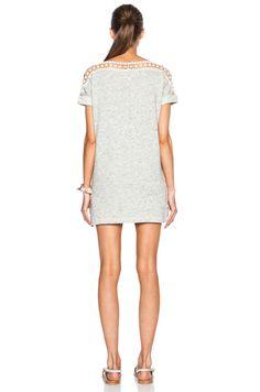 Crochet Shoulder Sweatshirt Dress