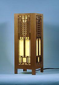 Decorative Frank Lloyd Wright Accent Lamp: Tree of Life Lightbox