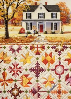 Rebecca  Barker Quiltscape - Autumn Leaves