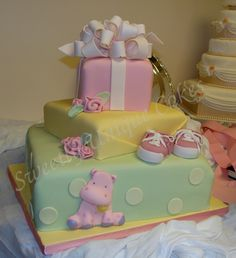 Girl baby shower cake love the hippo Baby Cakes, Baby Shower Cakes, Baby Shower Themes, Cupcake Cakes, Shower Ideas, Pink Cakes, Shower Bebe, Girl Shower, Beautiful Cakes