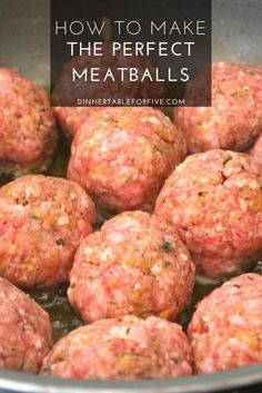 How To Make The Best Meatballs beef meatballs How To Make The Best Meatballs Yum - Dinner Table For Five Crock Pot Recipes, Beef Steak Recipes, Beef Recipes For Dinner, Ground Beef Recipes, Meat Recipes, Cooking Recipes, Beef Meals, Cooking Tips, Recipies