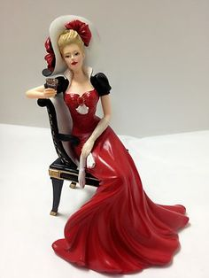 The Perfect Accompaniment Lady Figurine - Relaxing Moments with Coca Cola