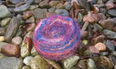 'Red sky at night' needle felted vessel £8.50