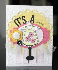 "Made using Bella Blvd's, ""Baby Girl"" and  Bella Blvd/Unity Stamps"