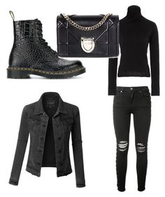 """Cold"" by zeynepmelekc on Polyvore featuring Dr. Martens, AMIRI, LE3NO, Simon Miller and Christian Dior"