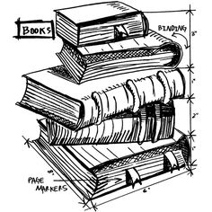 Tim Holtz Rubber Stamp 2015 BOOKS SKETCH Stampers Anonymous
