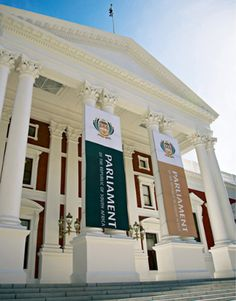 The identity of the Parliament of The Republic of South Africa was designed by switchdesign. Inspired by the countries coat of arms which has similar features like the shape and. The Republic, Coat Of Arms, South Africa, Identity, Country, Building, House, Travel, Design