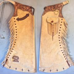 Boar Hide Arizona Step-Ins going to Scott Cowboy Spurs, Cowboy Gear, Western Outfits, Western Wear, Western Chinks, Western Tack, Shotgun Chaps, Saddles For Sale, Leather Tooling