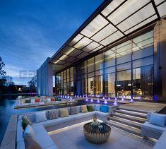 Fuzhou Finance Special Zone Sales Center by Li Yizhong on Behance Floating Lounge, Sales Center, Interiores Design, Home Interior Design, Lighting Design, Design Projects, Landscape Design, Mansions, Architecture