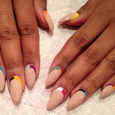 "Lurrrve this design by @Emma Zangs Zangs Barber ""an ode to @MPNAILS"" stiletto nails #nailart"