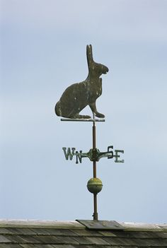 A Rabbit-Shaped Weather Vane Atop a Roof Photographic Print Year Of The Rabbit, Lightning Rod, Mourning Dove, Weather Vanes, Rabbit Art, Bunny Art, Art Plastique, Hare, Alice In Wonderland
