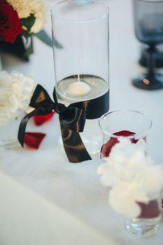 Wedding Decor Black White Red