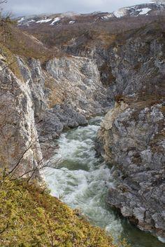 Silfar Canyon in Finnmark, Noorwegen.