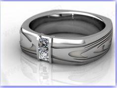 Elegant graceful unique wedding rings for men U017