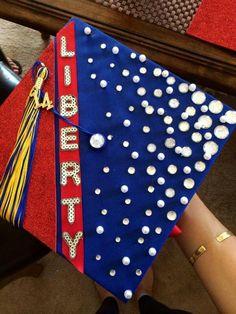 Graduation cap 2014 going to Liberty University Graduation Caps, Grad Cap, Graduation Ideas, Liberty University, Cap Decorations, Dream School, Cap Ideas, Senior Year, College
