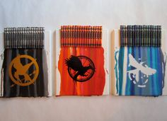 The Hunger Games Melted Crayon Art by MeltMagic on Etsy