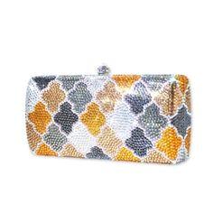 Puzzle Swarovski Crystal Clutch Bag - Yellow