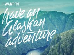 Alaskan Adventure designed by Ryan Hamrick. Typography Letters, Hand Lettering, The Places Youll Go, Places To See, Snowboard Design, Stylish Text, Like A Rolling Stone, Typo Logo, Alaska Travel