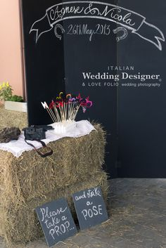 Home made photo booth...great for a backyard wedding!