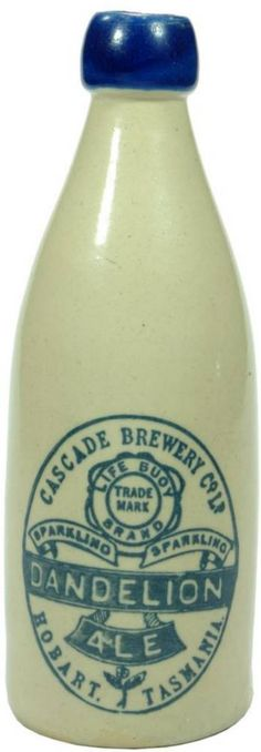Cascade Brewery Dandelion Ale Blue Lip Stoneware Bottle…Click VISIT to find out how much this Bottle sold for and see more Bottles at MAD On Collections. Please feel free to share this pin or any other content from MADonC.com. MADonC.com is for the objects people love because there is always something more... Please do follow this board. Check us out on Facebook - https://www.facebook.com/Mad-on-Bottles-818609791640083/ #bottle #stoneware #StonewareBottle #MADonC