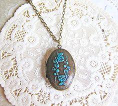 Antique locket necklace for $14.00!