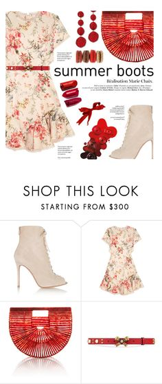 """""""Summer Boots"""" by federica-m ❤ liked on Polyvore featuring Gianvito Rossi, Zimmermann, Cult Gaia, Gucci and Kenneth Jay Lane"""