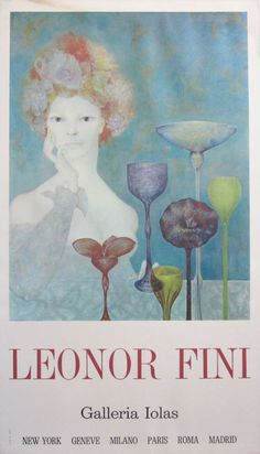 Leonor Fini original advertisement lithography vintage poster Sergio Tosi Printer from 1970 Italy.