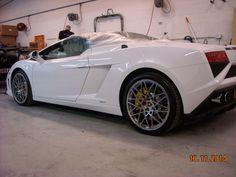 Lamborghini Gallardo - wheel arch and off side rear quarter repair.