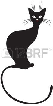 cats: The silhouette of black graceful cats
