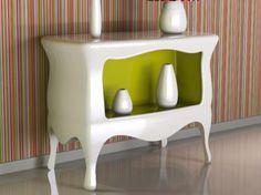 Consolle laccata in Adamantx® EUFEMIA by ZAD ITALY design Giovanni Cardinale Designer