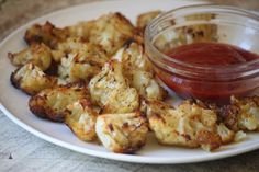 Word on the street is that these things taste like french fries. Baked Cauliflower Poppers. Must try.
