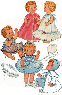 Vintage Doll Clothes Pattern 2349 for 15-17 inch Toodles by American Character