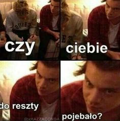 Read from the story Memy o One Direction by DziewczynaHazzy (Pani Ciemności) with 419 reads. One Direction Imagines, One Direction Pictures, Polish Memes, Harry Styles Memes, 5sos Memes, Weekend Humor, Memes Funny Faces, 1d And 5sos, Know Your Meme