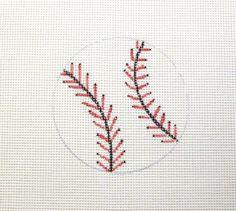 Baseball Handpainted Needlepoint Canvas Ornament #Unbranded