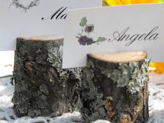 200 Rustic Name Card Holders  Tree Branch Escort by OzarkCraftWood