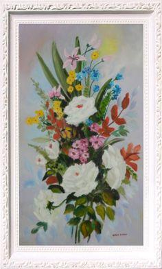 Buque de Flores - Óleo sobre Tela