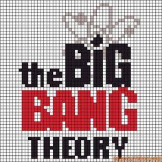 The big bang theory logo x-stitch