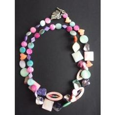 Colourful Shell Necklace for Designer Jewellery, Jewelry Design, Shell Necklaces, Shells, My Style, Bracelets, Color, Seashells, Bangles