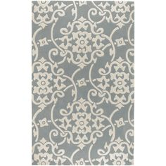 Hand-tufted Grey Floral Rug - Overstock™ Shopping - Great Deals on 5x8 - 6x9 Rugs
