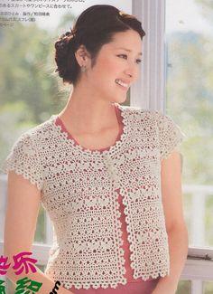 Japanese Crochet Cardigan PDF Pattern - #3456-10