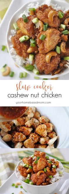 Slow Cooker Cashew Nut Chicken  - better than take out!