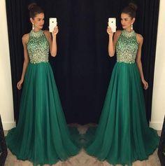 green prom Dress,charming Prom Dresses,Evening Dress,long prom dress,new prom dress,BD1654