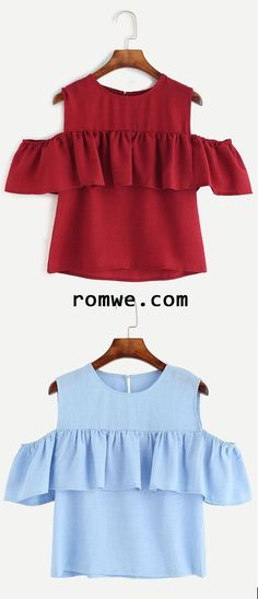 Open Shoulder Ruffle Top 55 Magical Looks To Copy Now – Open Shoulder Ruffle Top Source Diy Fashion, Fashion Outfits, Womens Fashion, Fashion Design, Fashion Trends, Casual Dresses, Casual Outfits, Cute Outfits, Creation Couture