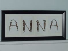 Handpainted Sock Monkey Individual LETTERS spell any by twinzzshop, $8.00